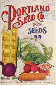 Cover of: Portland Seed Company's complete seed annual for 1919