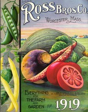 Cover of: Everything for the farm and garden for 1919 | Ross Brothers Company