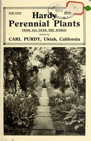 Cover of: Hardy perennial plants from all over the world