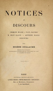 Cover of: Notices et discours