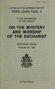 Cover of: On the mystery and worship of the Eucharist, Dominicae Cenae | Pope John Paul II
