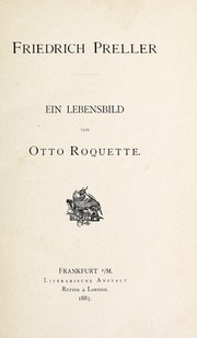 Cover of: Friedrich Preller