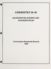 Cover of: Chemistry 20-30 | Alberta. Curriculum Standards Branch