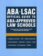 Cover of: Aba - Lsac Official Guide to Aba-approved Law Schools 2007 (Aba Lsac Official Guide to Aba Approved Law Schools) |