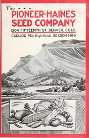 Cover of: Catalog [of] mile high seeds | Pioneer-Haines Seed Company