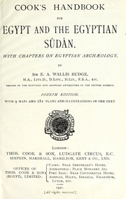 Cover of: Cook's handbook for Egypt and the Egyptian Sûdân: With chapters on Egyptian archæology.