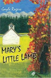 Cover of: Mary's Little Lamb
