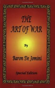Cover of: The Art of War by Baron De Jomini
