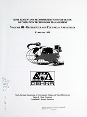 Cover of: IRMT review and recommendations for DEHNR information technology management | North Carolina. Department of Environment, Health, and Natural Resources. Information Resource Management Team
