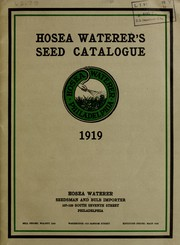 Hosea Waterers seed catalogue