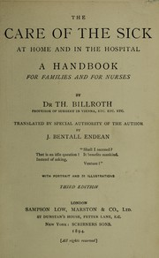 Cover of: The care of the sick