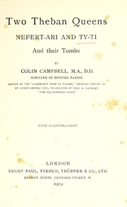 Cover of: Two Theban queens | Campbell, Colin