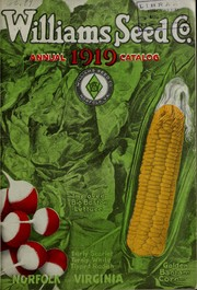Cover of: Annual catalog | Williams Seed Company