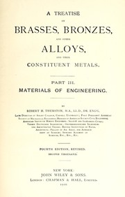 Cover of: A treatise on brasses, bronzes, and other alloys