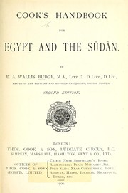 Cover of: Cook's handbook for Egypt and the Sûdân