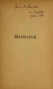 Cover of: Wanderbuch, 1825-1873