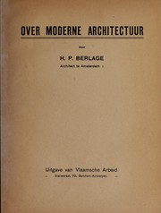 Cover of: Over moderne architectuur