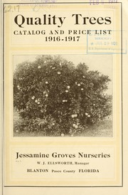 Cover of: Quality trees | Jessamine Groves Nurseries