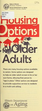 Cover of: Housing options for older adults | Illinois. Dept. on Aging