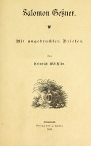 Cover of: Salomon Gessner