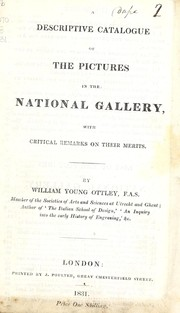 Cover of: A descriptive catalogue of the pictures in the National Gallery