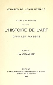 Cover of: Œuvres de Henri Hymans