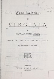 Cover of: A true relation of Virginia
