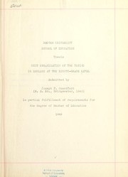 Cover of: Unit organization of two topics in English at the eighth-grade level | Joseph F. Comerford