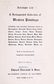 Cover of: A distinguished collection of Western paintings | Edward Eberstadt & Sons
