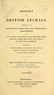 Cover of: A history of British animals