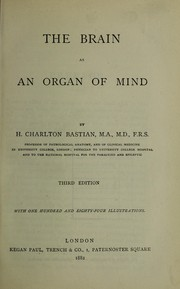 Cover of: Brain as an organ of mind