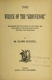 "Cover of: The wreck of the ""Grosvenor"""