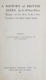 Cover of: A history of British India