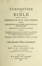 Cover of: Curiosities of the Bible