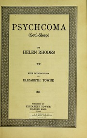 Cover of: Psychoma
