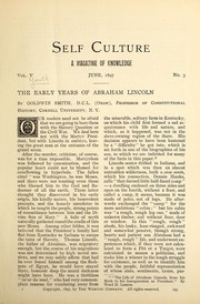 Cover of: The early years of Abraham Lincoln