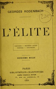 Cover of: L'élite ...
