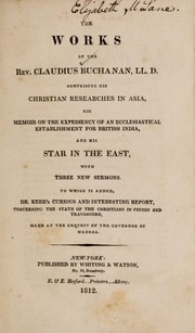 Cover of: The works of the Rev. Claudius Buchanan L.L.D.