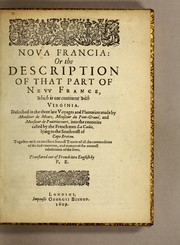 Cover of: Noua Francia : or the description of that part of Neuu France, which is one continent with Virginia