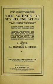 Cover of: The science of sex regeneration | A. Gould