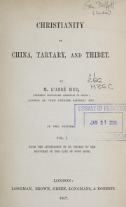 Cover of: Christianity in China, Tartary and Tibet