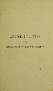 Cover of: Advice to a wife