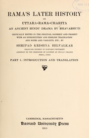 Cover of: Rama's later history