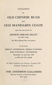 Cover of: Catalogue of old Chinese rugs and old Mandarin coats | Anderson Galleries, Inc