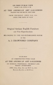 Cover of: Original antique English furniture; old English silver | American Art Association