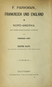 Cover of: Frankreich und England in Nord-Amerika