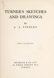 Cover of: Turner's sketches and drawings