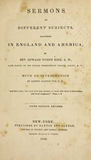Cover of: Sermons on different subjects delivered in England and America