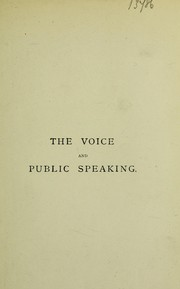 Cover of: The voice and public speaking