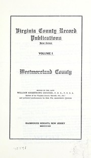 Cover of: Westmoreland County